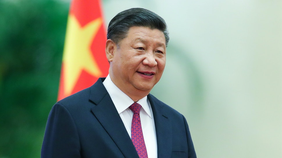 BEIJING, CHINA - SEPTEMBER 07: Chinese President Xi Jinping attends the a welcoming ceremony for Prince Albert II of Monaco inside the Great Hall of the People on September 7, 2018 in Beijing, China. At the invitation of Chinese president Xi Jinping, Prince Albert II, the Head of State of the Principality of Monaco will pay a state visit to China From September 5th to 8th.