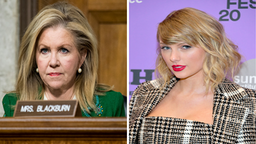 "UNITED STATES - DECEMBER 3: Sen. Marsha Blackburn, R-Tenn., listens during the Senate Armed Services Committee hearing on privatized military housing on Tuesday, Dec. 3, 2019. PARK CITY, UTAH - JANUARY 23: Taylor Swift attends the 2020 Sundance Film Festival - ""Miss Americana"" Premiere at Eccles Center Theatre on January 23, 2020 in Park City, Utah."