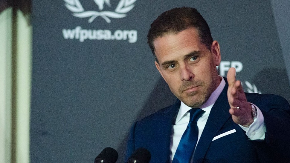 WFP USA Board Chair Hunter Biden speaks during the World Food Program USA's 2016 McGovern-Dole Leadership Award Ceremony at the Organization of American States on April 12, 2016 in Washington, DC.