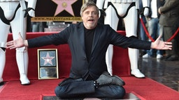 Mark Hamill is honored with a star on the Hollywood Walk of Fame on March 8, 2018 in Hollywood, California.