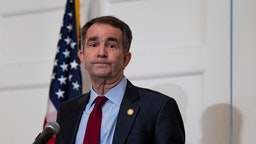 RICHMOND, VA - FEBRUARY 02: Virginia Governor Ralph Northam speaks with reporters at a press conference at the Governor's mansion on February 2, 2019 in Richmond, Virginia. Northam denies allegations that he is pictured in a yearbook photo wearing racist attire.