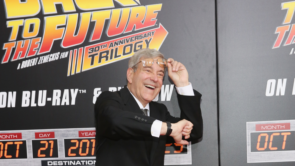 """NEW YORK, NY - OCTOBER 21: Franchise co-creator, writer and producer Bob Gale attends """"Back To The Future"""" New York Special Anniversary screening at AMC Loews Lincoln Square on October 21, 2015 in New York City."""