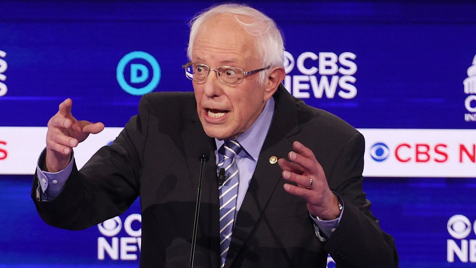 CHARLESTON, SOUTH CAROLINA - FEBRUARY 25: Democratic presidential candidate Sen. Bernie Sanders (I-VT) speaks during the Democratic presidential primary debate at the Charleston Gaillard Center on February 25, 2020 in Charleston, South Carolina. Seven candidates qualified for the debate, hosted by CBS News and Congressional Black Caucus Institute, ahead of South Carolina's primary in four days.