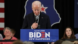 CONCORD, NEW HAMPSHIRE - FEBRUARY 04: Democratic presidential candidate former Vice President Joe Biden speaks during a campaign event on February 04, 2020 in Concord, New Hampshire. A day after the Iowa caucuses Joe Biden is campaigning in New Hampshire ahead of the state's primary on February 11.