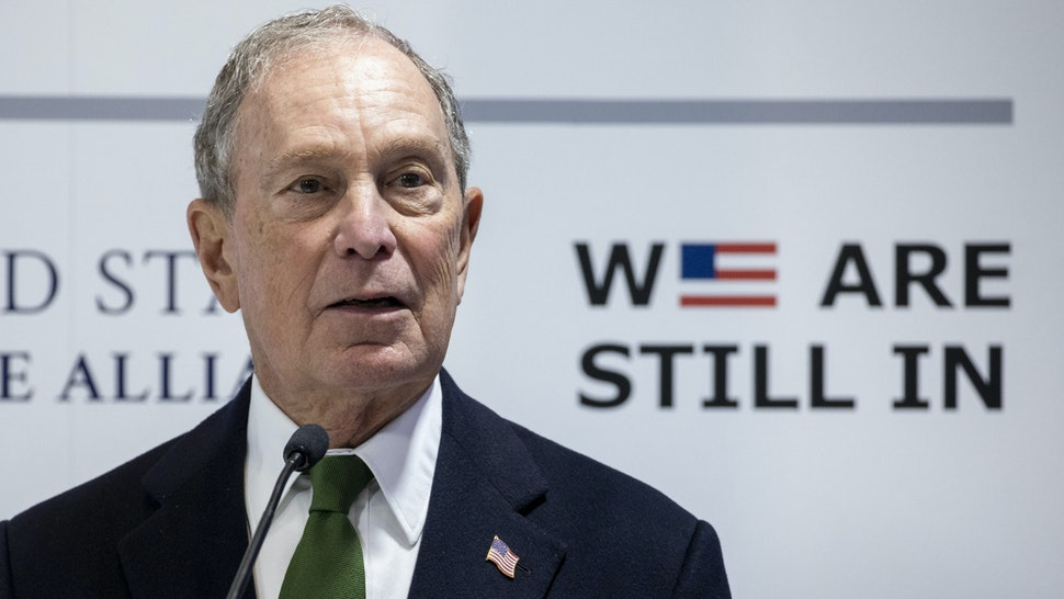 MADRID, SPAIN - DECEMBER 10: Democratic Presidential candidate and former New York City Mayor Michael Bloomberg speaks at a conference during the COP25 Climate Summit on December 10, 2019 in Madrid, Spain. The COP25 conference brings together world leaders, climate activists, NGOs, indigenous people and others for two weeks in an effort to focus global policy makers on concrete steps for heading off a further rise in global temperatures.