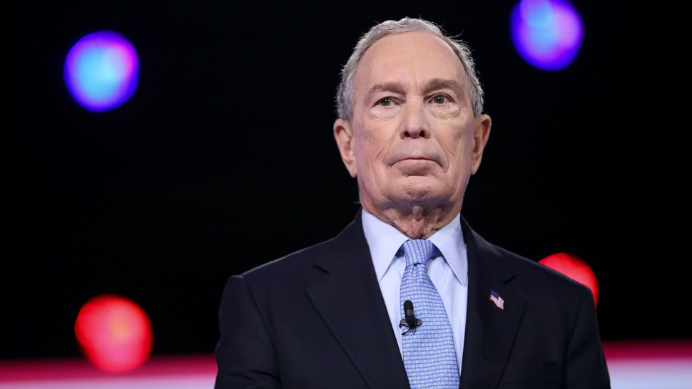 Democratic presidential hopeful Former New York Mayor Mike Bloomberg arrives for the tenth Democratic primary debate of the 2020 presidential campaign season co-hosted by CBS News and the Congressional Black Caucus Institute at the Gaillard Center in Charleston, South Carolina, on February 25, 2020.
