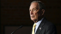 DETROIT, MI - FEBRUARY 04: Democratic presidential candidate Mike Bloomberg holds a campaign rally on February 4, 2020 in Detroit, Michigan. Bloomberg is planning to skip the early primaries and focus his efforts on Super Tuesday and beyond.