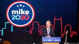 NASHVILLE, TN - FEBRUARY 12: Democratic presidential candidate former New York City Mayor Mike Bloomberg delivers remarks during a campaign rally on February 12, 2020 in Nashville, Tennessee. Bloomberg is holding the rally to mark the beginning of early voting in Tennessee ahead of the Super Tuesday primary on March 3rd.
