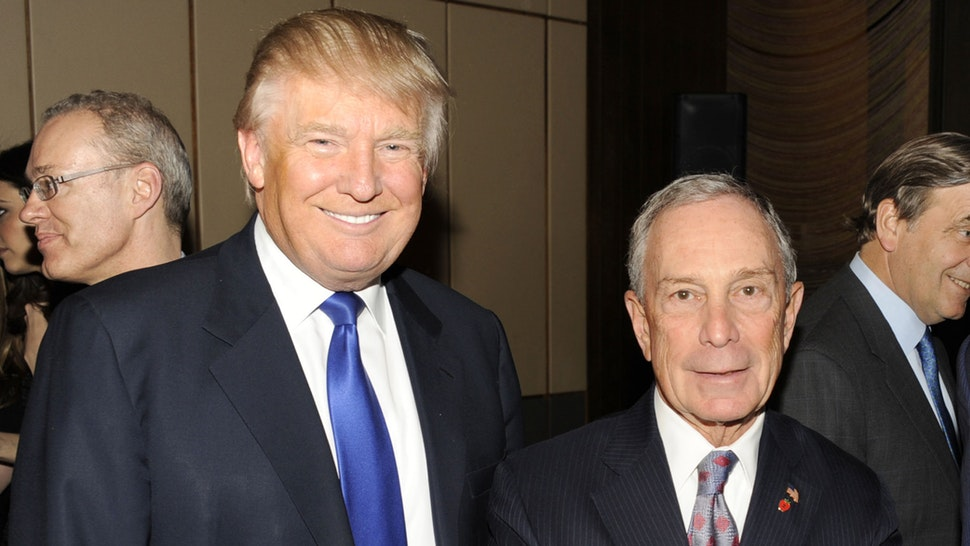 NEW YORK, NY - MARCH 14: (L-R) Donald Trump, Mayor Michael Bloomberg and Jared Kushner attend The New York Observer 25th Anniversary at Four Seasons Restaurant on March 14, 2013 in New York City.