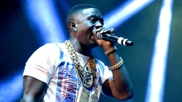 Boosie Badazz performs during the Collegrove Tour at ORACLE Arena on November 10, 2016 in Oakland, California. (Photo by Tim Mosenfelder/Getty Images)