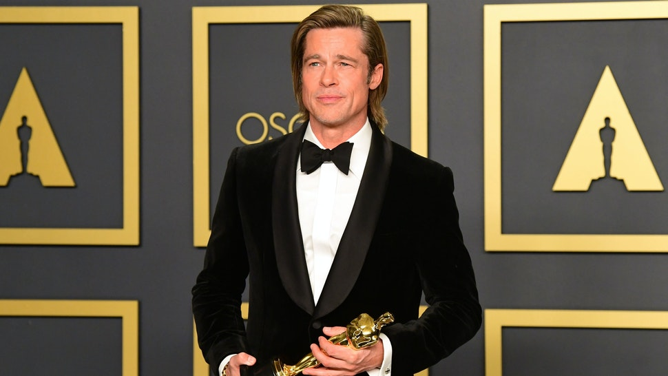 US actor Brad Pitt poses in the press room with the Oscar for Best Supporting Actor during the 92nd Oscars at the Dolby Theater in Hollywood, California on February 9, 2020.