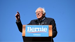 2020 Democratic presidential hopeful US Senator Bernie Sanders (D-VT) speaks to supporters during a campaign rally on October 19, 2019 in New York City.