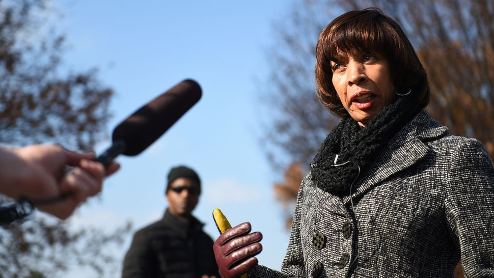 Baltimore Mayor Catherine Pugh marches in the Mayor's Annual Christmas parade in Hampden, Baltimore, MD, December 3, 2017. Baltimore recently topped 300 murders and Pugh faces other problems of poverty and drugs. (Photo by Astrid Riecken For The Washington Post)
