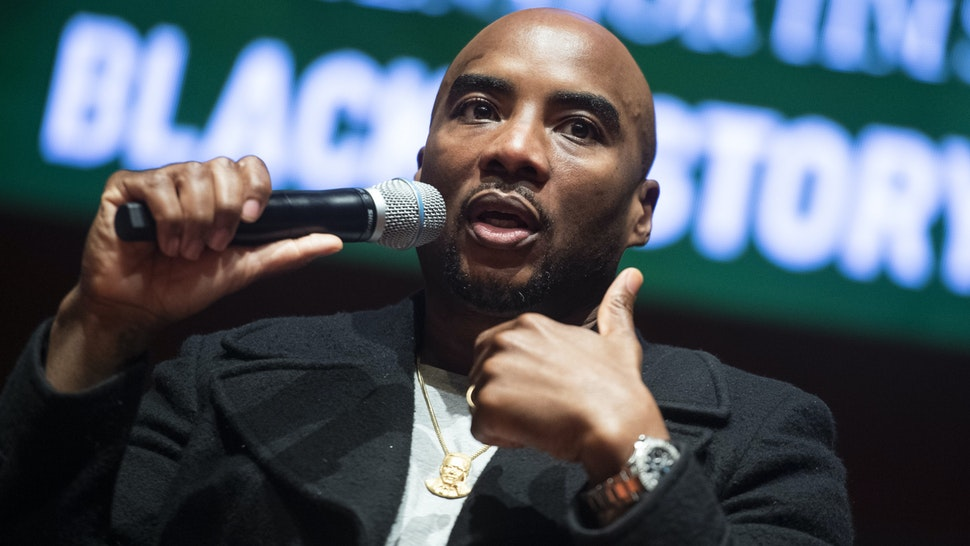 UNITED STATES - FEBRUARY 10: Charlamagne tha God, co-host of the Breakfast Club, conducts a discussion on the diversity of thought in the black community, in the Capitol Visitor Center during Black History Month on Monday, February 10, 2020.