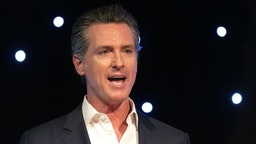 California Governor Gavin Newsom speaks at Planets Explore 19 Conference in San Francisco, California on October 15, 2019. The Governor talks about the importance of protecting our environment and enhance the states capability at dealing with natural disasters such as wild fire.