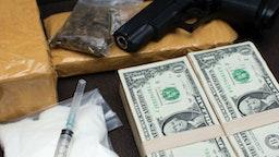 Tools of drug distributors - stock photo