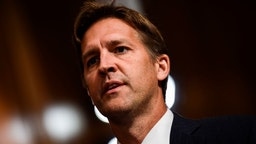 Senate Judiciary Committee member Senator Ben Sasse (R-NE) looks on during a markup hearing on Capitol Hill in Washington, DC on September 28, 2018, on the nomination of Brett M. Kavanaugh to be an associate justice of the Supreme Court of the United States.