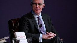 Andrew McCabe presents onstage at the American Jewish University on March 14, 2019 in Los Angeles, California.