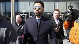 CHICAGO, ILLINOIS - MARCH 26: Actor Jussie Smollett leaves the Leighton Courthouse after his court appearance on March 26, 2019 in Chicago, Illinois. This morning in court it was announced that all charges were dropped against the actor. (Photo by Nuccio DiNuzzo/Getty Images)