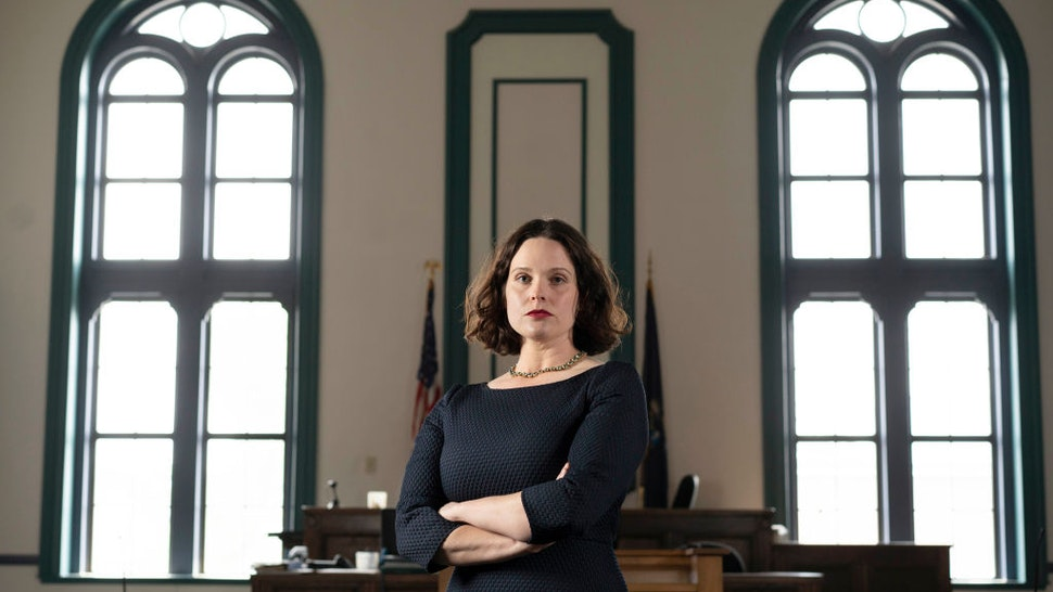 Natasha Irving, District Attorney for Sagadahoc County, poses for a photo in a courtroom at the Sagadahoc County Courthouse in Bath on Thursday, June 6, 2019.