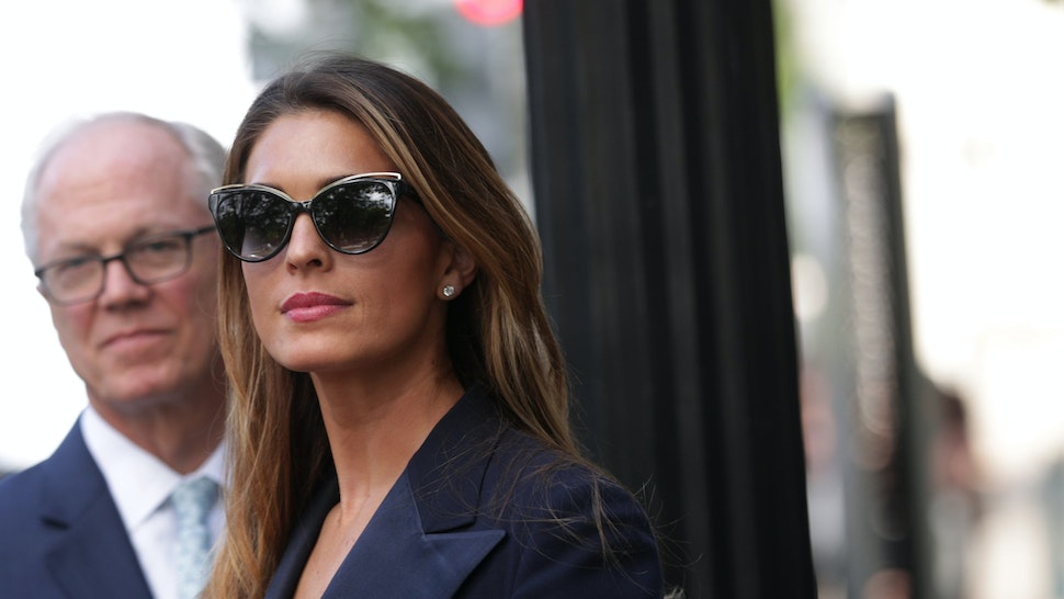 WASHINGTON, DC - JUNE 19: Former White House communications director Hope Hicks leaves after a closed-door interview with the House Judiciary Committee June 19, 2019 on Capitol Hill in Washington, DC. Hicks is the first former Trump aide to testify before the panel's investigation into special counsel Robert Mueller's report and obstruction of justice. (Photo by Alex Wong/Getty Images)