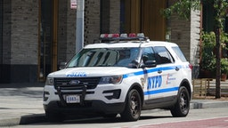 08 September 2019, US, New York: A New York City Police Department (NYPD) car is parked in the Chelsea district of Manhattan. Photo: Alexandra Schuler/dpa (Photo by Alexandra Schuler/picture alliance via Getty Images)