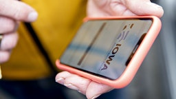 The Iowa Democratic Party caucus app is displayed on an iPhone outside Iowa Democratic Party headquarters in Des Moines, Iowa, U.S., on Tuesday, Feb. 4, 2020. The breakdown in reporting results from Iowa's Democratic caucuses appears tied to failures in a mobile application that may not have been ready for the load of a statewide election and which the head of the Homeland Security Department said wasn't subjected to a cybersecurity test by his agency. Photographer: Daniel Acker/Bloomberg via Getty Images