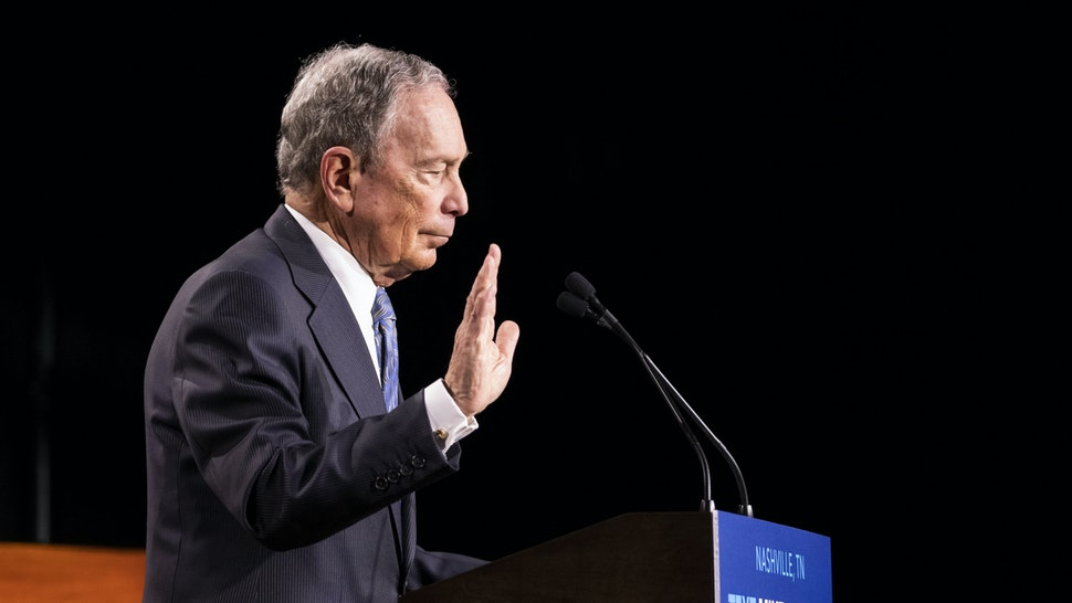 NASHVILLE, TN - FEBRUARY 12: Democratic presidential candidate former New York City Mayor Mike Bloomberg delivers remarks during a campaign rally on February 12, 2020 in Nashville, Tennessee. Bloomberg is holding the rally to mark the beginning of early voting in Tennessee ahead of the Super Tuesday primary on March 3rd. (Photo by Brett Carlsen/Getty Images)