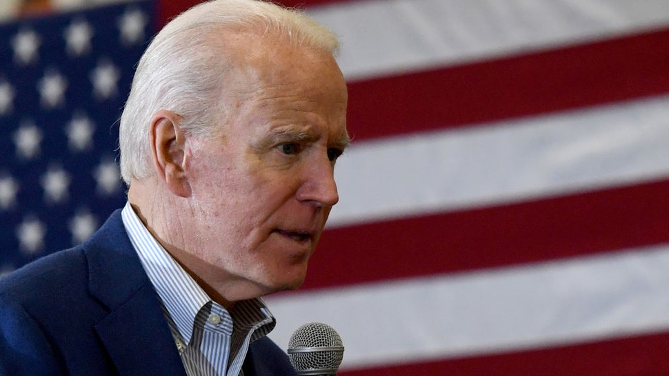 Democratic presidential candidate former Vice President Joe Biden speaks during a community event at Hyde Park Middle School on February 21, 2020 in Las Vegas, Nevada.