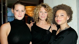 """Actress Kate Capshaw (C), and daughters Mikaela George Spielberg (R) and Destry Allyn Spielberg (L) attend EIF Women's Cancer Research Fund's 16th Annual """"An Unforgettable Evening"""" presented by Saks Fifth Avenue at the Beverly Wilshire Four Seasons Hotel on May 2, 2013 in Beverly Hills, California."""