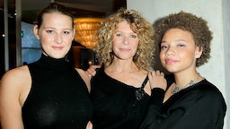 "Actress Kate Capshaw (C), and daughters Mikaela George Spielberg (R) and Destry Allyn Spielberg (L) attend EIF Women's Cancer Research Fund's 16th Annual ""An Unforgettable Evening"" presented by Saks Fifth Avenue at the Beverly Wilshire Four Seasons Hotel on May 2, 2013 in Beverly Hills, California."