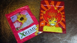 """In this photo illustration, packets of K2 or """"spice"""", a synthetic marijuana drug, are seen in East Harlem on August 5, 2015 in New York City."""