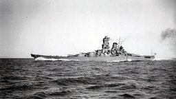 Photograph of the IJN Yamato the lead ship of the Yamato class of battleships that served with the Imperial Japanese Navy during World War II. Dated 1941