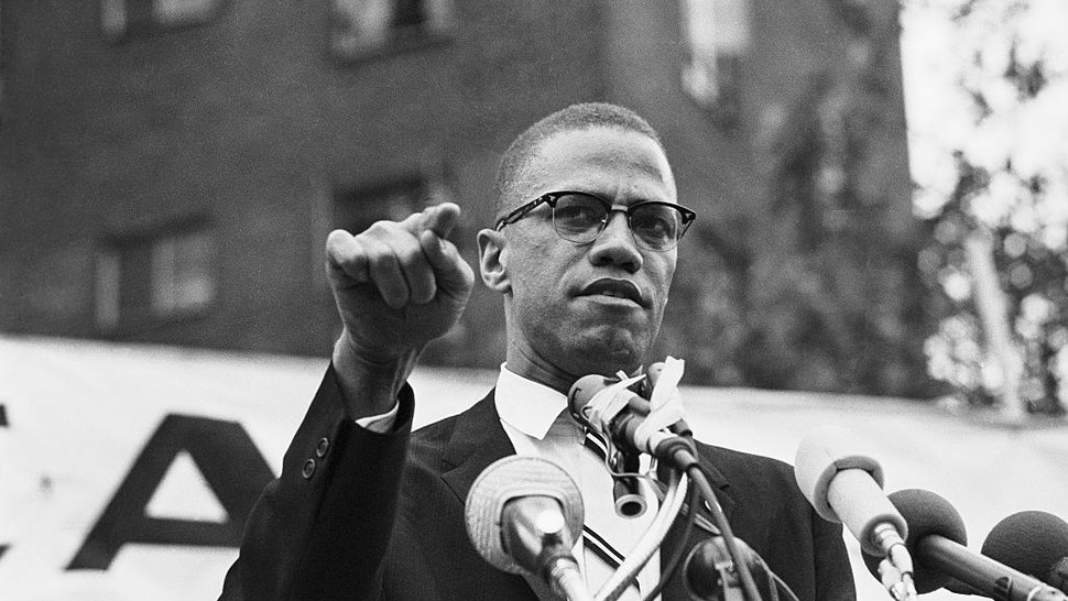 Nation of Islam leader Malcolm X draws various reactions from the audience as he restates his theme of complete separation of whites and African Americans.