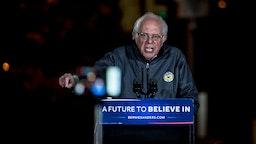 Bernie Sanders Kicks off Star-Studded Massive Rally in NYC's Washington Square Park.