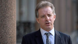 Christopher Steele, the former MI6 agent who set-up Orbis Business Intelligence and compiled a dossier on Donald Trump, in London where he has spoken to the media for the first time.