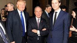(L-R) Donald Trump, Mayor Michael Bloomberg and Jared Kushner attend The New York Observer 25th Anniversary at Four Seasons Restaurant on March 14, 2013 in New York City.