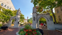 General view of Sample Gates on the campus of Indiana University are seen before the game against the Georgia Southern Eagles at Memorial Stadium on September 23, 2017 in Bloomington, Indiana.