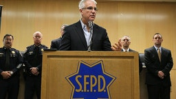 San Francisco Police Chief George Gascon speaks during a news conference at the San Francisco Hall of Justice May 5, 2010 in San Francisco, California.