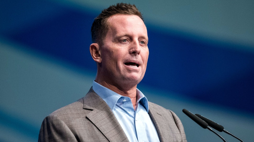 Richard Grenell, US ambassador to Germany, gives a speech as he attends a congress of the Junge Union (JU), the youth wing of Germany's conservative CDU/CSU union, on October 5, 2018 in Kiel, northern Germany.