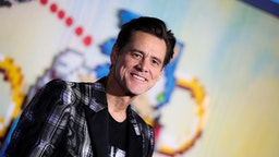 """Jim Carrey attends the LA special screening of Paramount's """"Sonic The Hedgehog"""" at Regency Village Theatre on February 12, 2020 in Westwood, California."""