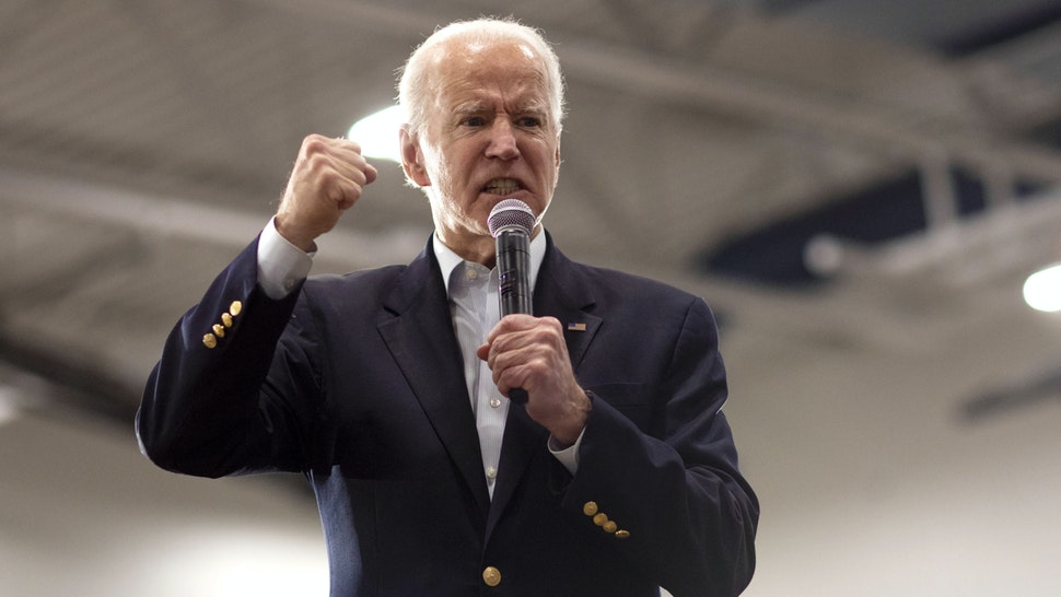 Former U.S. Vice President Joe Biden, 2020 Democratic presidential candidate, speaks during a campaign event in Des Moines, Iowa, U.S., on Sunday, Feb. 2, 2020. Biden is opening a daunting lead over the rest of the field in the March 3 Texas primary, but his advantage has slipped in South Carolina, where the primary later this month is crucial for his campaign.