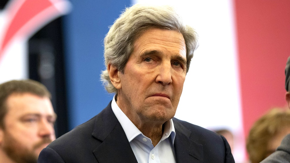 Former U.S. Secretary of State John Kerry listens during a campaign event for former U.S. Vice President Joe Biden, 2020 Democratic presidential candidate, not pictured, in North Liberty, Iowa, U.S., on Saturday, Feb. 1, 2020. Biden's campaign has added big-name Democratic fundraisers to the candidate's national finance committee, including billionairePenny Pritzkerand Avenue Capital Croup'sMarc Lasry, as it braces for a protracted fight for the Democratic nomination.
