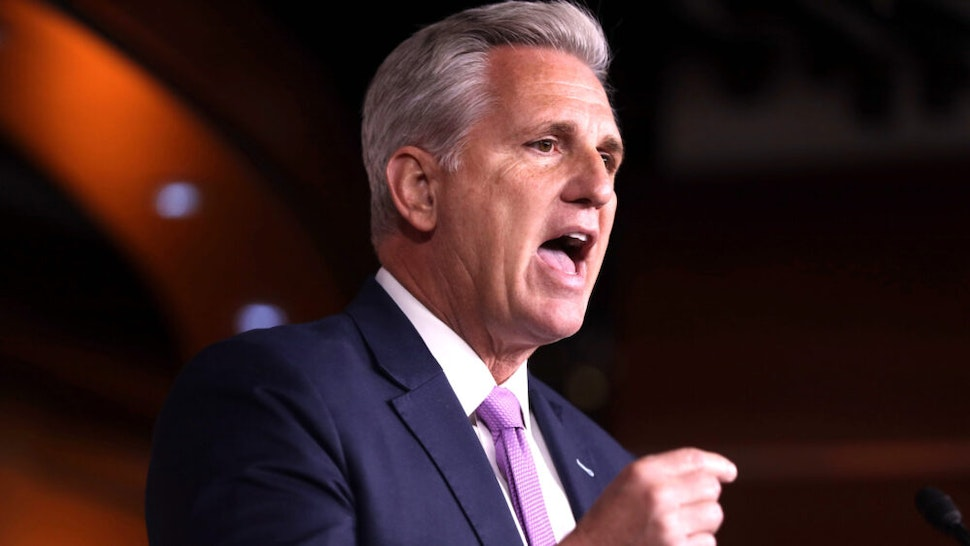 WASHINGTON, DC - DECEMBER 05: U.S. House Minority Leader Rep. Kevin McCarthy (R-CA) speaks during his weekly news conference December 5, 2019 on Capitol Hill in Washington, DC. McCarthy discussed the impeachment inquiry against President Donald Trump.
