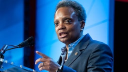 Chicago Mayor Lori Lightfoot, speaks during the U.S Conference of Mayors' 88th Winter Meeting at the Capital Hilton in Washington, D.C., on Thursday, January 23, 2020. (Photo By Tom Williams/CQ Roll Call)