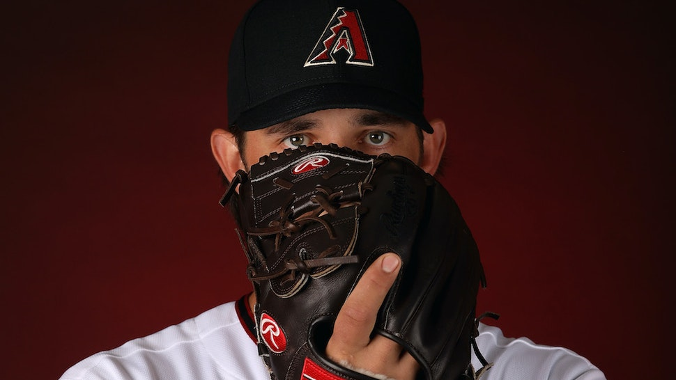 Pitcher Madison Bumgarner #40 of the Arizona Diamondbacks poses for a portrait during MLB media day at Salt River Fields at Talking Stick on February 21, 2020 in Scottsdale, Arizona. (Photo by Christian Petersen/Getty Images)
