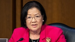 WASHINGTON, DC, UNITED STATES, DECEMBER 11, 2019: Senator Mazie Hirono (D-HI) speaks during the Senate Judiciary Committee Hearing on the Department of Justice (DOJ) Inspector General's report regarding the investigation into DOJ and FBIs work regarding the 2016 presidential election.