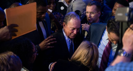"Democratic presidential candidate Mike Bloomberg greets well-wishers after speaking at the Buffalo Soldiers National Museum on February 13, 2020 in Houston, Texas. The former New York City mayor launched ""Mike for Black America,"" an effort to focus on key issues relating to black Americans on his fifth campaign trip to Texas. (Photo by Callaghan O'Hare/Getty Images)"