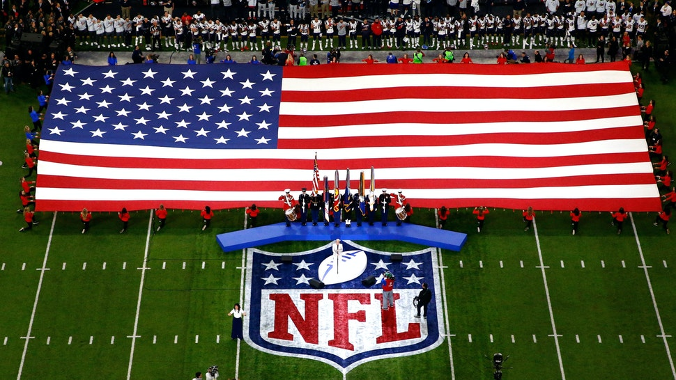 MINNEAPOLIS, MN - FEBRUARY 04: Pink sings the national anthem prior to Super Bowl LII between the New England Patriots and the Philadelphia Eagles at U.S. Bank Stadium on February 4, 2018 in Minneapolis, Minnesota.