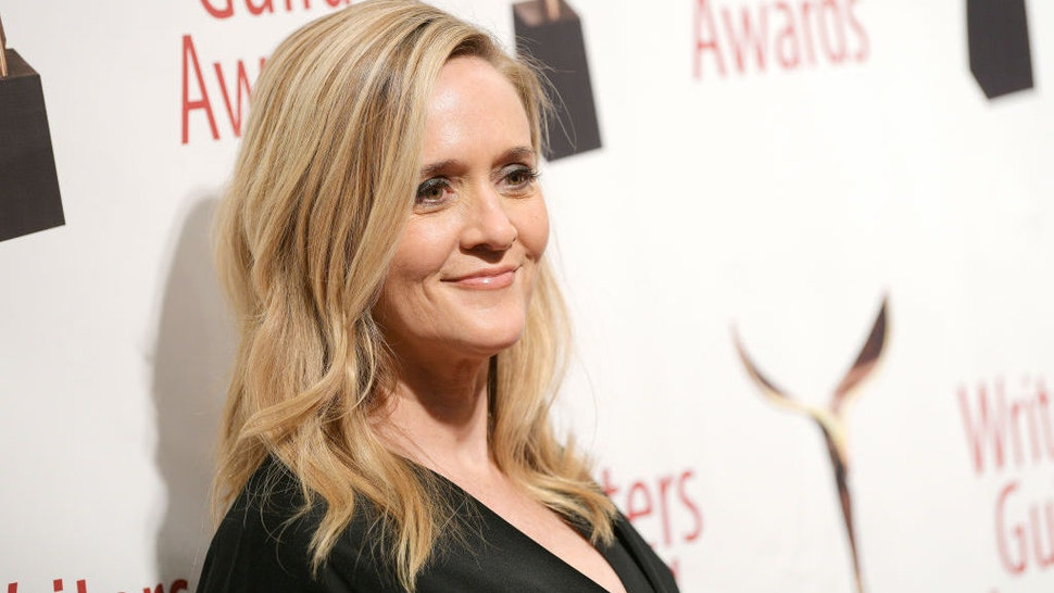 Samantha Bee poses backstage the 72nd Writers Guild Awards at Edison Ballroom on February 01, 2020 in New York City. (Photo by Roy Rochlin/Getty Images for Writers Guild of America, East)